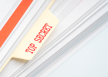 document file: Document file with conceptual text Stock Photo