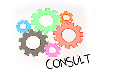 technic: Gears and CONSULTING mechanism Stock Photo