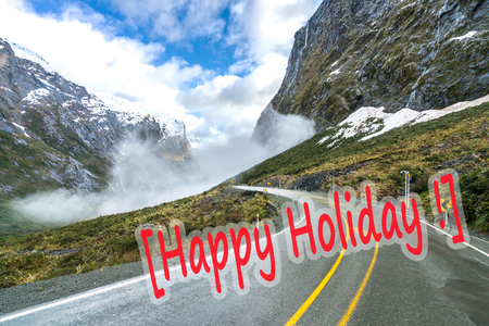 anau: The road to Milford Sound among majestic mountains Stock Photo