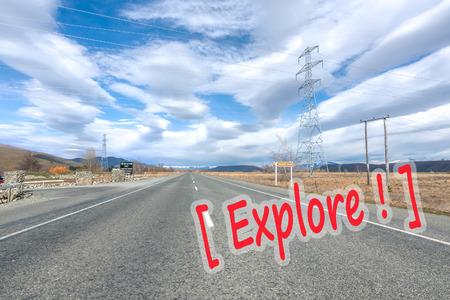 lenticular: Asphalt road with lenticular cloud