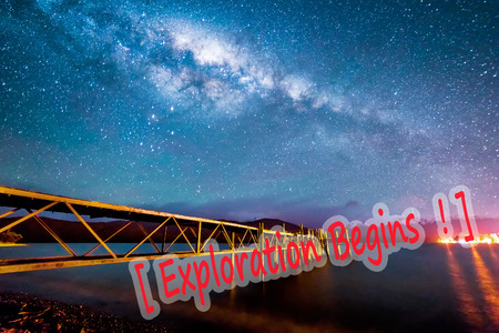 Night milkyway with wooden jetty at Te Anau, New Zealand