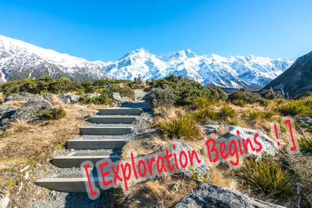 Aoraki National Park , hooker valley walking trek in Mouth Cook, New Zealand