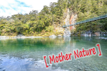 Blue pool river at Queentown, New Zealand