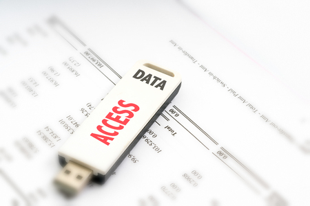 USB drive with financial concept. Stock Photo - 73423031