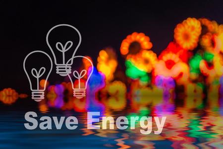 Abstract circular bokeh background of LED light bulb