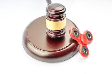 Gavel hammer and fidget spinner