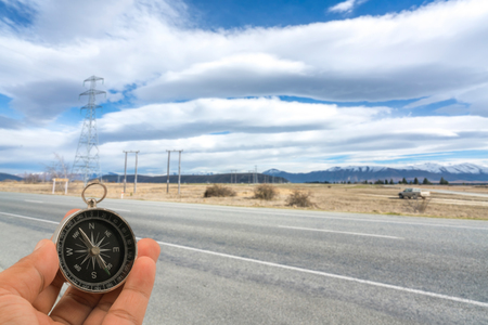 lenticular: Asphalt road with lenticular cloud