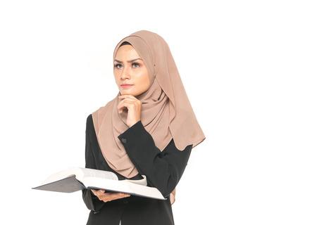 Hijab 사업가 책입니다. 교육 개념입니다.