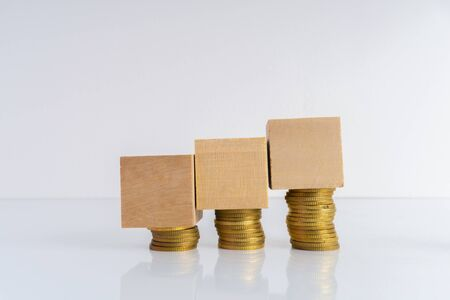 Coins stacking with financial concept. 写真素材 - 142145343