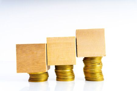 Coins stacking with financial concept. 写真素材 - 142147691
