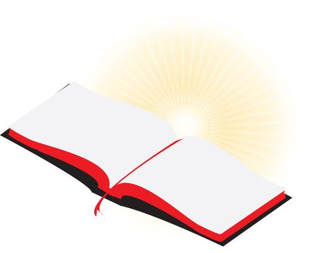 new testament: Opened Bible with placemarker Stock Photo