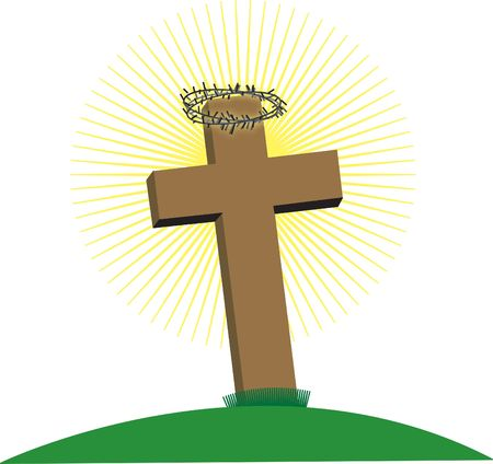 crucify: Crown of Thorns on cross