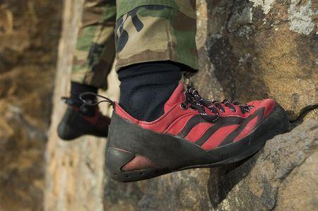 Closeup of Climbing Shoe