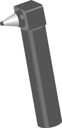 illustration of an otoscope illustration
