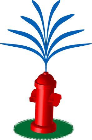 cartoonish fire hydrant vector illustration