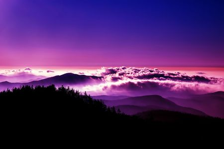High Contrast evening in the Great Smoky Mountains