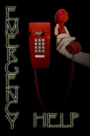 Hand holding up red phone Zdjęcie Seryjne - 344378