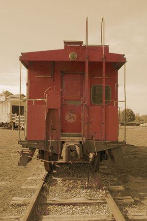 Antique caboose in childrens park