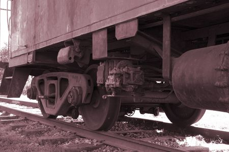 Old caboose wheels
