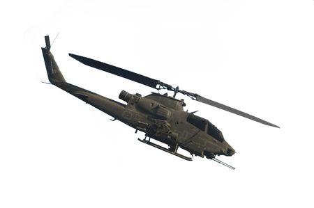 Cobra helicopter isolated on white background
