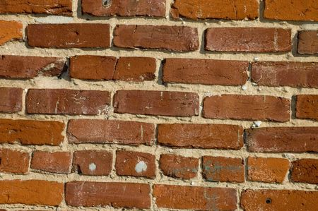 aging: Aging highly textured brick wall suitable for background