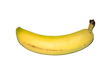 banana isolated on white Reklamní fotografie