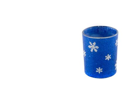 Holiday candle holder with copy space to the side Stock Photo