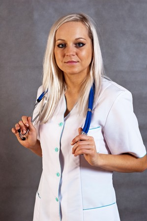 Young woman dressed as a nurse photo