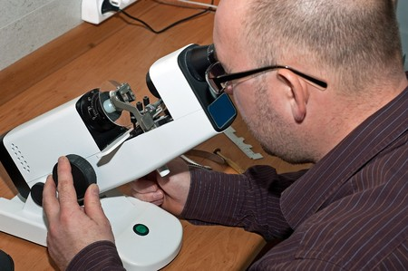 The production and repair of glasses in the opticians