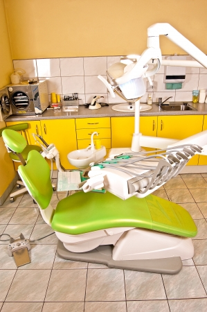 Dentist ready to accept patients Stock Photo