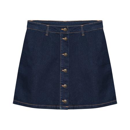 Denim jeans skirt isolated on white Stock Photo