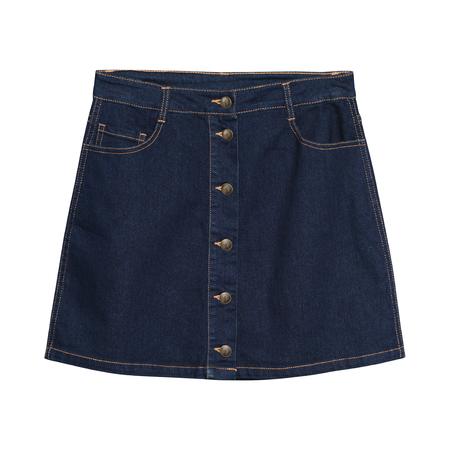 Denim skirt isolated on white Stock Photo