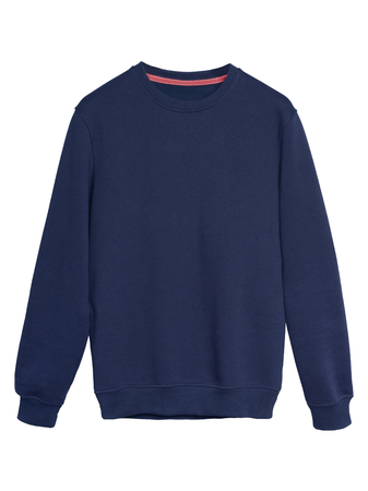 Navy blue sweatshirt isolated on white
