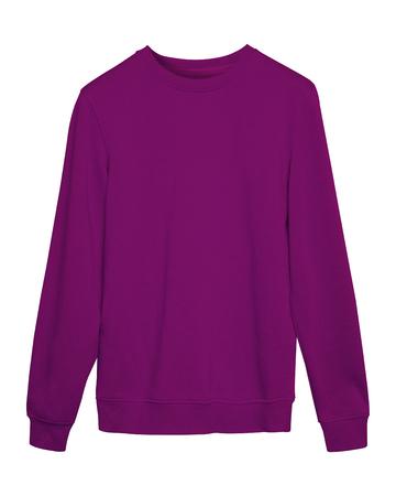 Violet sport blank sweatshirt isolated on white Stock Photo