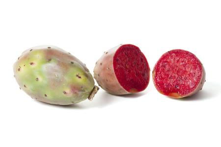 opuntia: Opuntia fruit on white background