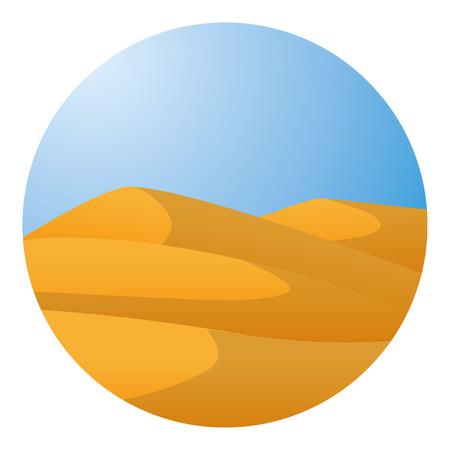 desierto del sahara: Simple ilustración vectorial desierto africano Vectores