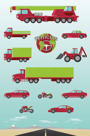combi: Illustration of different types of vehicles