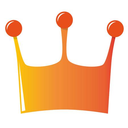 orange crown illustration for dutch kings day