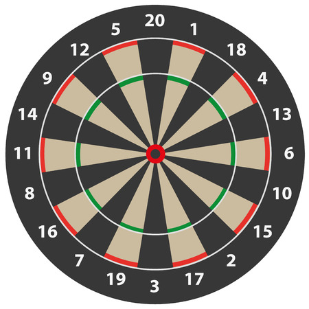 dart on target: simple dart target illustration with numbers and background