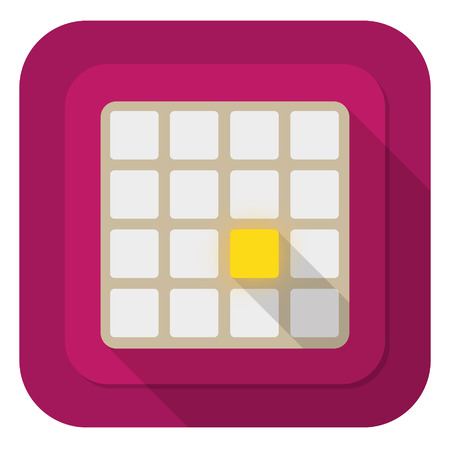 logical: illustration of 2048 logical gameon purple background