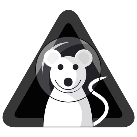 illustration of mouse in space suit with black backround  Illustration
