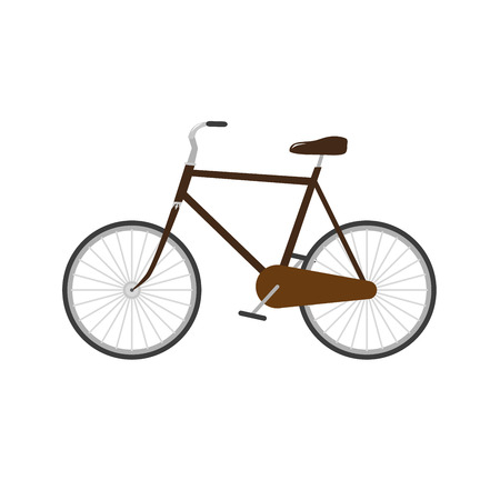 vintage old brown dutch bicycle vector illustration  Illustration