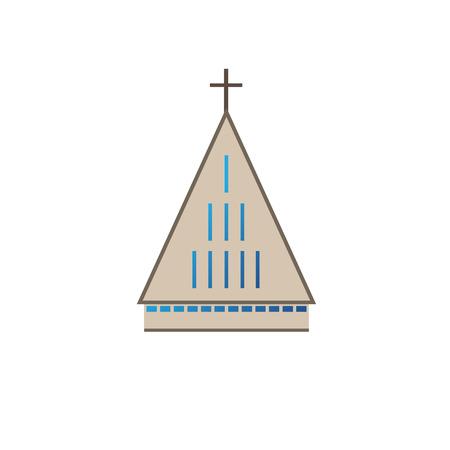 Simple illustration of modern geometry based church