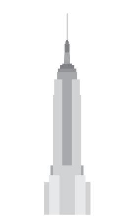 scysctraper building flat grey vector illustration
