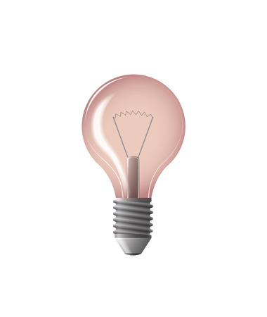 light bulb red vector illustration with gloss