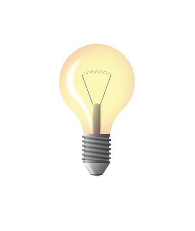 light bulb yellow vector illustration with gloss