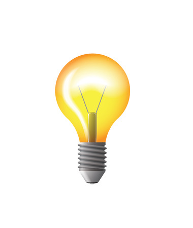 idea light bulb: light bulb yellow vector illustration with gloss