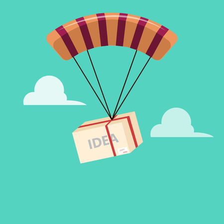 parachute jump: business Idea parachute jump Illustration