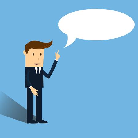 talks: businessman talks