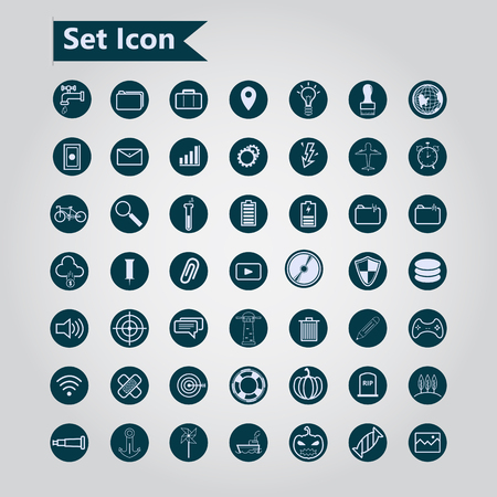 other: Icon Set of web. Other icon on white background